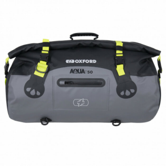 Oxford Aqua T-50 ROLL BAG Black/Grey/Fluo