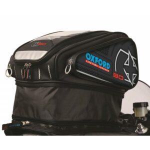 Oxford X30 Strap-on Magnetic Tankbag Black OL126