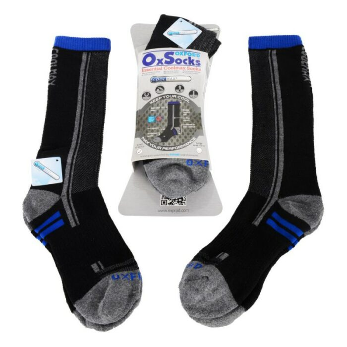 Oxford Coolmax Socks - Small (37-43/4-9) (Pack)
