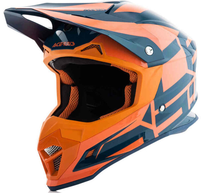 Acerbis Profile 4 Motocross Helmet Orange - Size - M