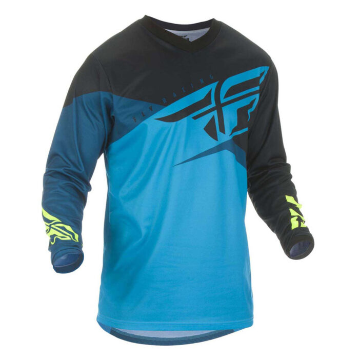 Fly Racing F-16 Jersey Black and Blue - Size - L