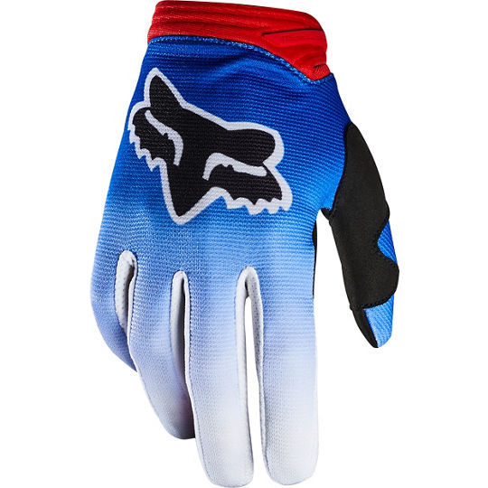 FOX Dirtpaw Glove Youth Blue and Red - Size - M