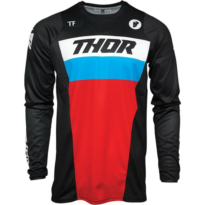 Thor Pulse Jersey Black/Red/Blue - Size - L