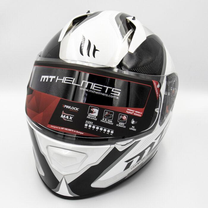 MT Helmet - White/Black